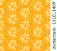 Orange citrus seamless endless background texture - stock vector