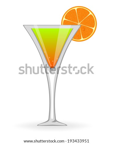 Orange cocktail  - stock vector