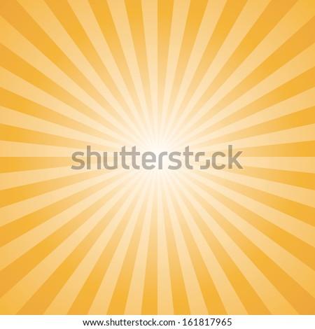 orange color burst background. Vector illustration - stock vector