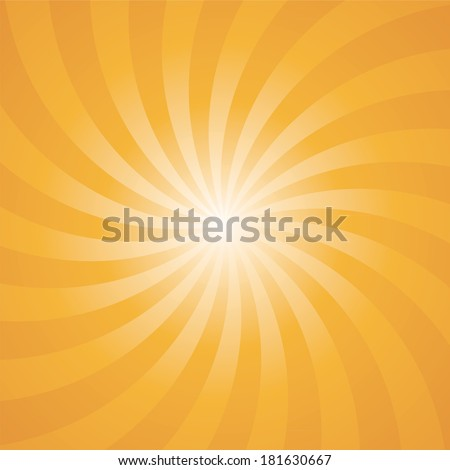 Orange Color Circle Swirl Burst Background Vector Illustration