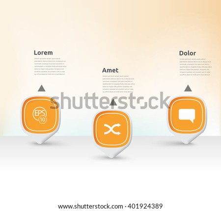 Orange Color Concept Adjustable Elements for Your Business Newsletter  - stock vector
