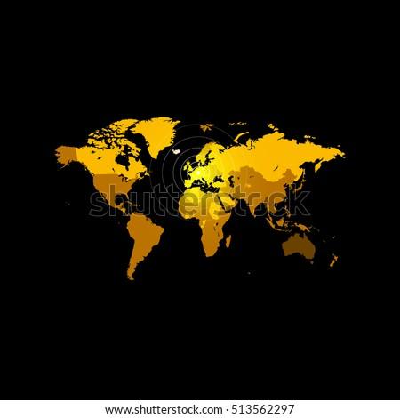 Orange color world map on black stock vector 513562297 shutterstock orange color world map on black background globe design backdrop cartography element wallpaper gumiabroncs Choice Image
