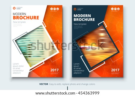 orange cover design for annual report catalog or magazine book or brochure booklet - Book Cover Design Ideas