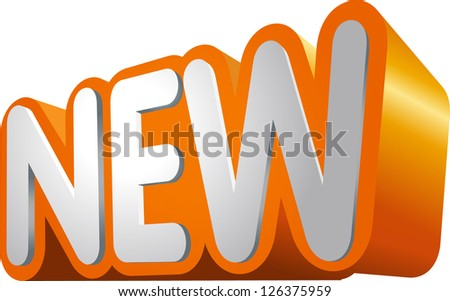 Orange 3D object type NEW for shopping and web