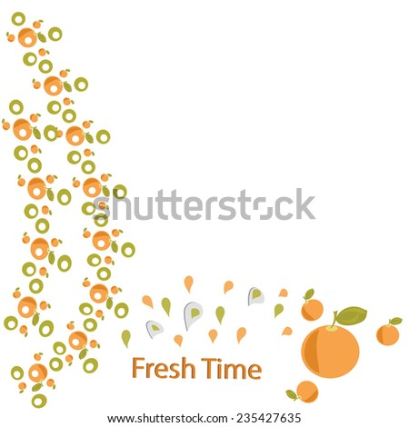orange design element card the background freshness