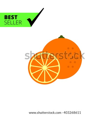 Orange flat icon - stock vector