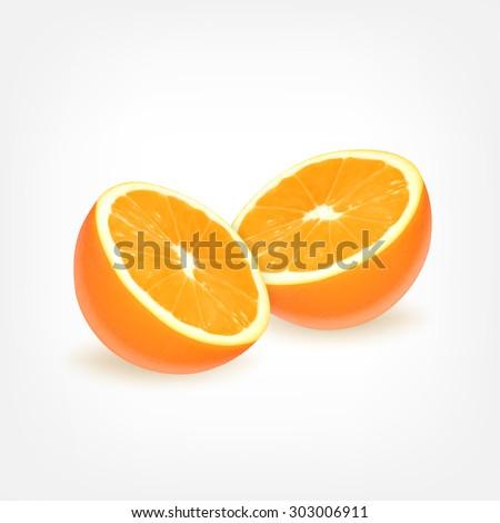 Orange fruit. EPS10 vector - stock vector