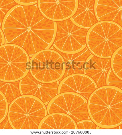 orange fruit pattern - stock vector