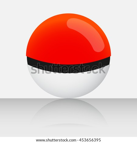 Orange Game Balls Set to Play In The Team on White Background. Vector Illustration - stock vector