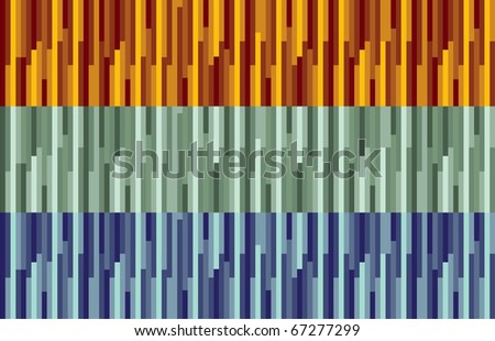 orange, green and blue stripes abstract background illustration - stock vector