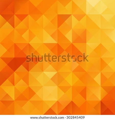 Orange Grid Mosaic Background, Creative Design Templates - stock vector
