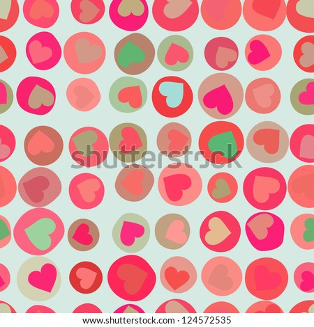 Orange hearts background on beidge.  And also includes EPS 8 vector - stock vector