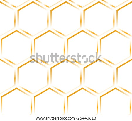 Orange honeycomb. Hexagon pattern - stock vector