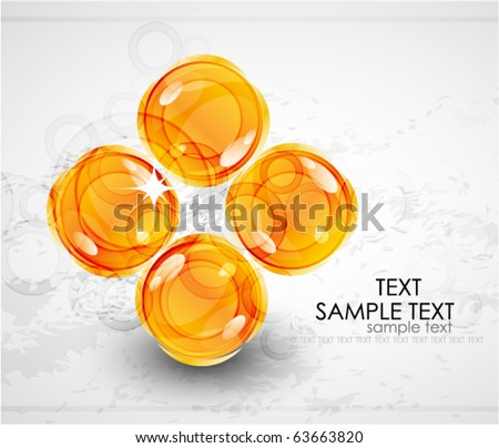 Orange hot icons on grey. Vector background - stock vector