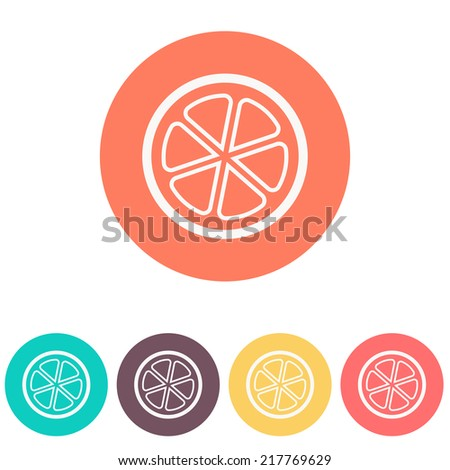 orange icon - stock vector
