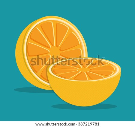 orange icon design  - stock vector