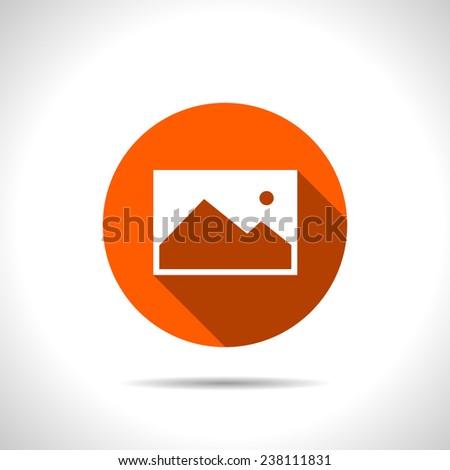 orange icon of image photo - stock vector