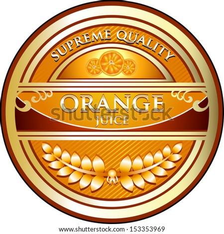 Orange Juice Vintage Label - stock vector