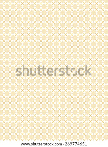 Orange line pattern with squares over white background - stock vector