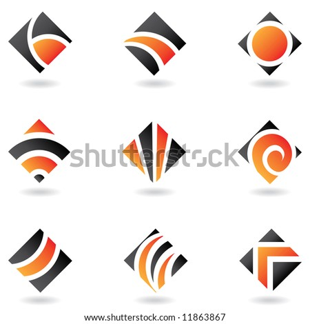 Orange logos to go with your company name - stock vector