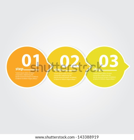 Orange Modern Design template / can be used for infographics / numbered banners / graphic or website layout vector - stock vector