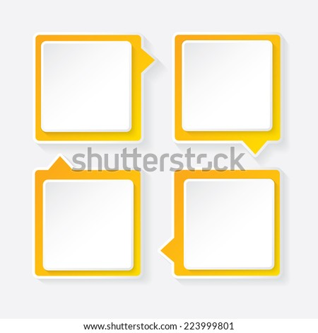 orange modern paper banners set / can be used for infographics / numbered banners / horizontal cutout lines / graphic or website layout vector - stock vector
