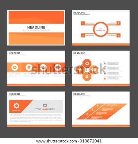 Orange Multipurpose Infographic elements and icon presentation template flat design set for advertising marketing brochure flyer leaflet - stock vector