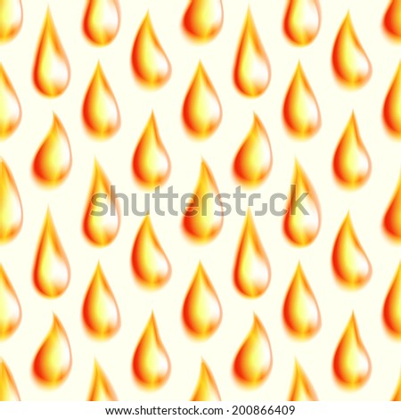 Orange oil drops,  seamless vector background - stock vector