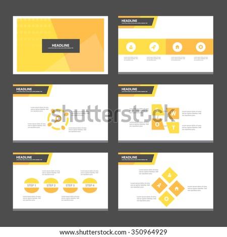 Orange presentation template Infographic elements flat design set for brochure flyer leaflet marketing advertising - stock vector