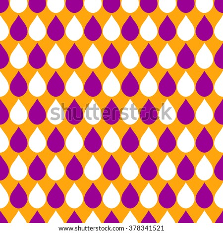 Orange Purple White Water Drops Background Vector Illustration