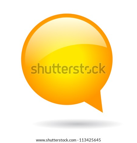 Orange round speech bubble, eps10 illustration - stock vector