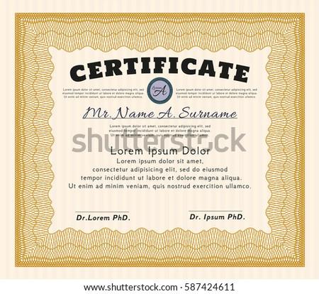 Certificate Design Template Stock Vector 223675321 - Shutterstock