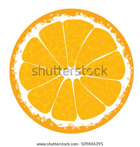 Orange slice . Orange icon. Orange illustration. Orange Orange Orange Orange Orange Orange Orange Orange Orange Vector illustration for decorative poster, emblem natural product, farmers market.