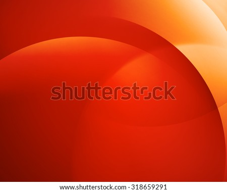 Orange smooth twist light bright wave lines vector abstract background - stock vector