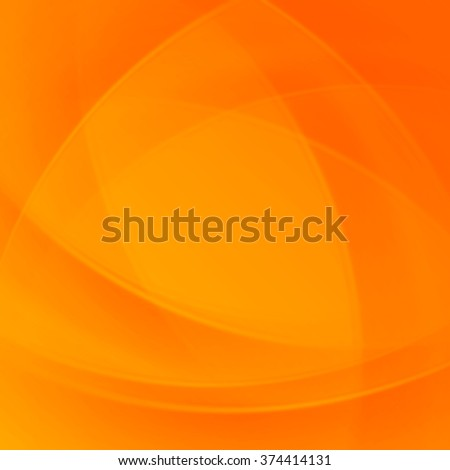 Orange smooth twist light lines vector background. Good for Brochure, Presentation, Advertising Banner, Flyer or Poster design. Abstract Background, Waves Background, Abstract Background Vector. - stock vector