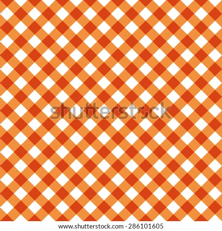 Orange Tablecloth Multiply Colors Pattern - stock vector