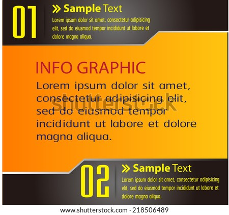 orange text box template for website computer graphic and internet, numbers.