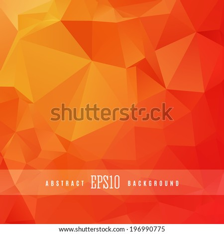 Orange triangle colorful abstract design background template - stock vector