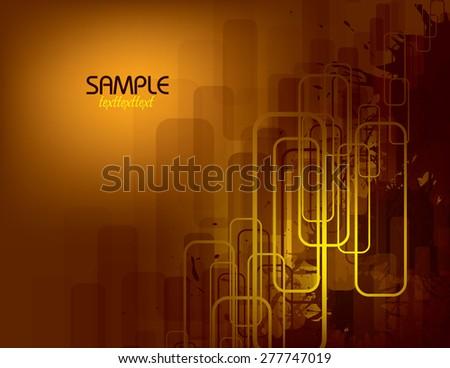 Orange Vector Abstract Background. - stock vector