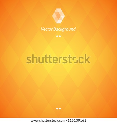 Orange vector background - stock vector