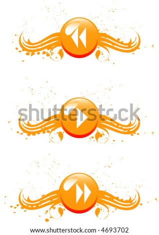 "Orange vector buttons for design.  For download all my pattern - search ""ozerina"" - stock vector"