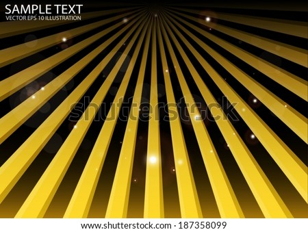 Orange vector high speed space travel background illustration - Vector space rays spreading template illustration - stock vector