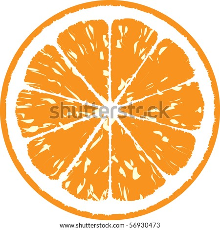 orange vector illustration - stock vector