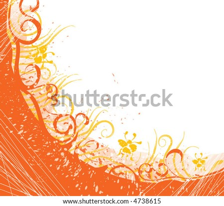 "Orange vector pattern for design. For download all my pattern - search ""ozerina"""