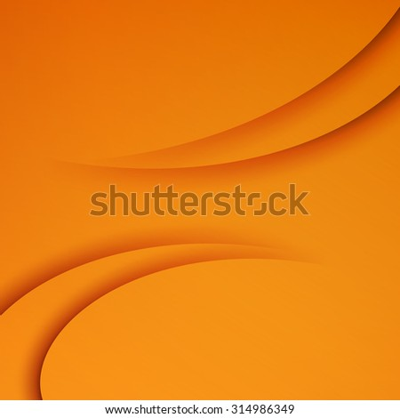 Orange  vector Template Abstract background with curves lines and shadow. For flyer, brochure, booklet and websites design