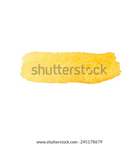 Orange Watercolor brush stroke - stock vector