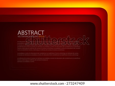 Orange yellow angle vector background with red line on dark space overlap paper layer for text and message modern artwork website design - stock vector