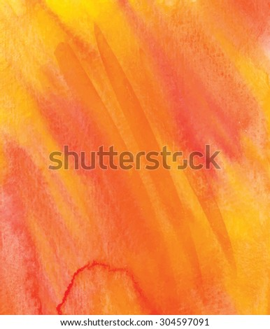 Orange, yellow, pink Abstract watercolor background. Vector EPS 8. Watercolor backdrop can be used for scrapbook elements, web page background, identity style, printing. - stock vector