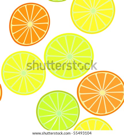 oranges and lemons background pattern