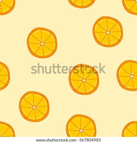 Oranges seamless pattern vector, fruit seamless pattern  - stock vector